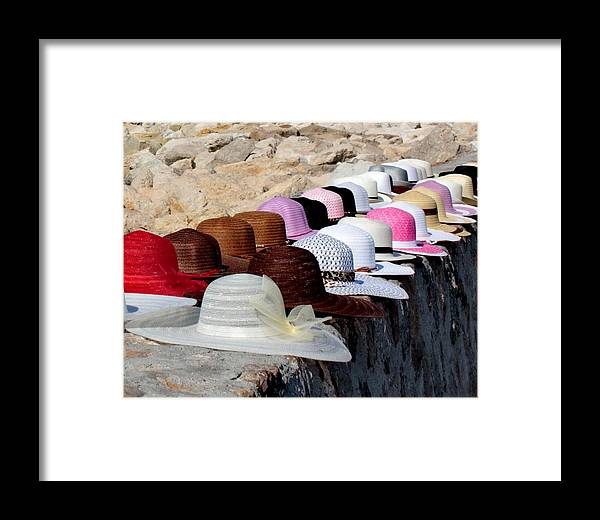 Hats Framed Print featuring the photograph Hats On The Rocks by Tom Gallacher