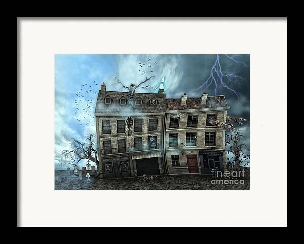 3d Framed Print featuring the digital art Haunted House by Jutta Maria Pusl