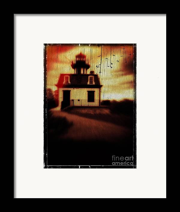 Halloween Framed Print featuring the photograph Haunted Lighthouse by Edward Fielding