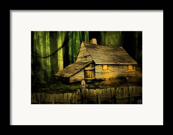 Haunted Barn Framed Print featuring the photograph Haunted Shack by Lourry Legarde