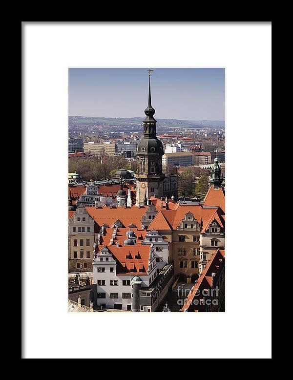 Architecture Framed Print featuring the photograph Hausmannsturm by Katja Zuske