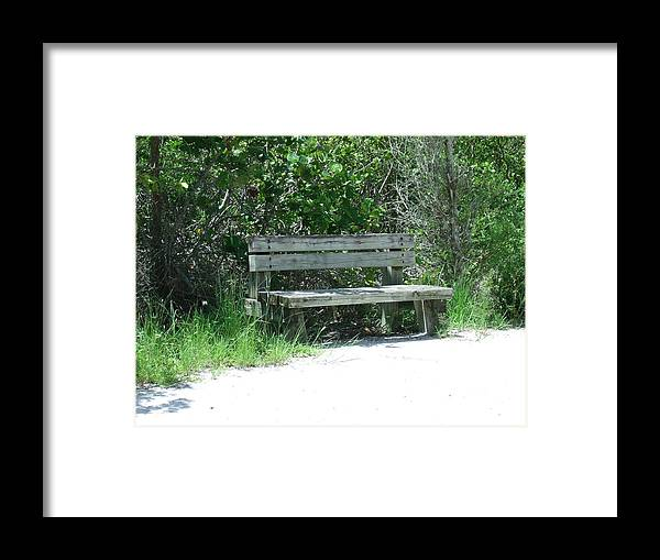 Nature Framed Print featuring the photograph Have A Seat by Zack Mann