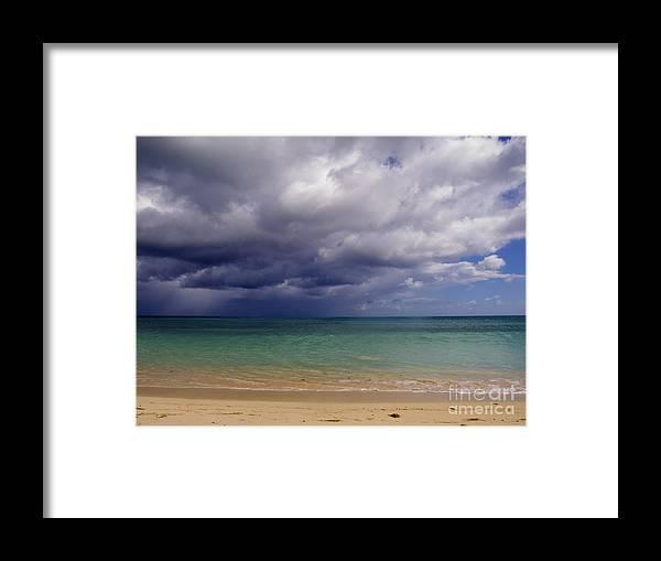 Clouds Framed Print featuring the photograph Hawaiian Storm by Kimberley Bennett