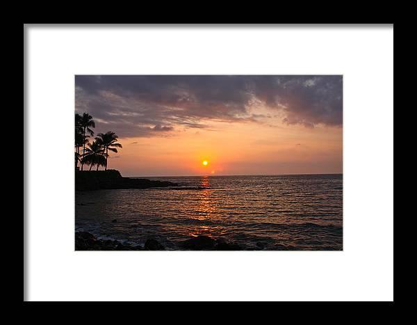 Hawaii Framed Print featuring the photograph Hawaiian Sunset by Stephanie More