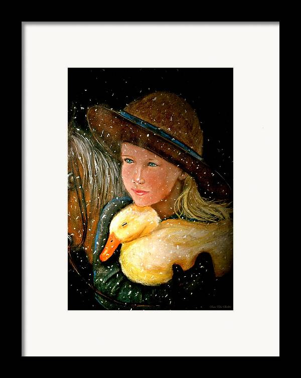 Snow Framed Print featuring the painting Hayden by Susan Elise Shiebler