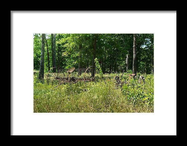 Farm Framed Print featuring the photograph Hayrake 2 by Douglas Barnett