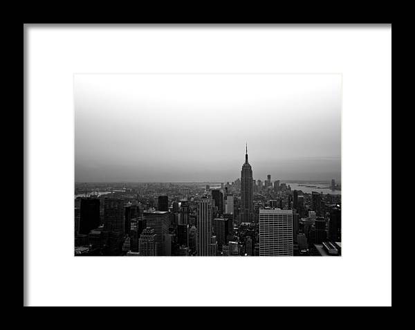 New York Framed Print featuring the photograph Hazy City Of New York by Heidi Reyher