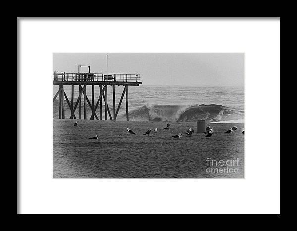 Hdr Framed Print featuring the photograph Hdr Black White Beach Beaches Ocean Sea Seaview Waves Pier Photos Pictures Photographs Photo Picture by Al Nolan