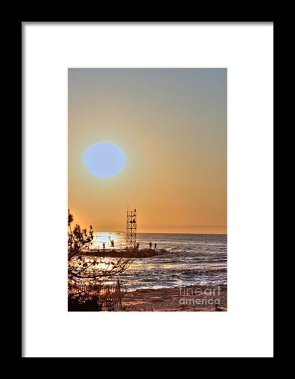 Seascape Framed Print featuring the photograph Hdr Seaview Oceanview Beach Beaches Ocean Sea Photos Pictures Photography Photo Pics Pictures Summer by Pictures HDR