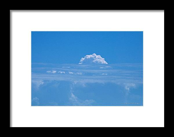 Clouds Framed Print featuring the photograph Head In The Clouds by Christine Stonebridge