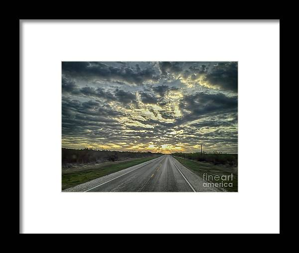 Landscape Framed Print featuring the photograph Heading Towards The Lights by Jeremy Linot