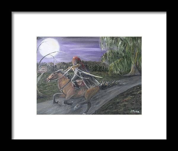 Headless Framed Print featuring the painting Headless Horseman by Donna Muller