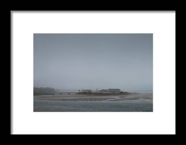 Fog Framed Print featuring the photograph Headlights In The Fog by Marx Broszio
