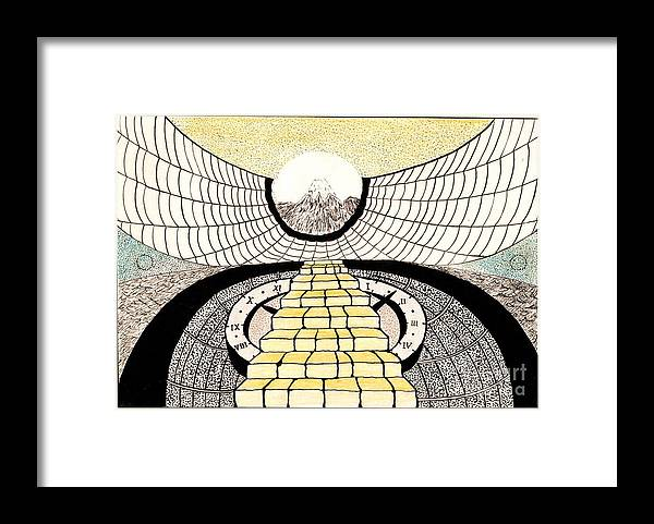 Imagination Framed Print featuring the painting Hear by Yury Bashkin