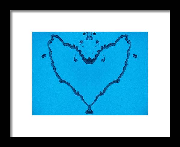 Abstract Framed Print featuring the digital art Heart by Odon Czintos