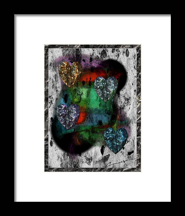 Heart Framed Print featuring the digital art Heartistry Seven by Michael Hurwitz