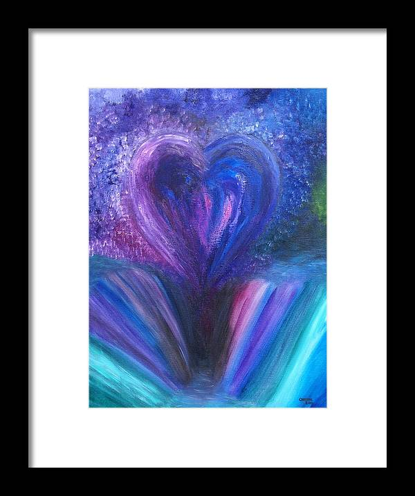 Landscape Framed Print featuring the painting Heart's Desires And Destruction by Crystal Mccormick