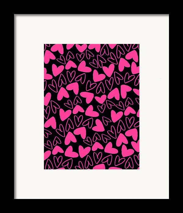 Heart Framed Print featuring the digital art Hearts by Louisa Knight