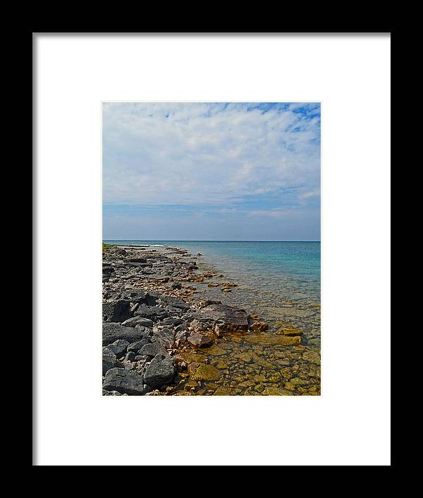 Heavenly Huron Framed Print featuring the photograph Heavenly Huron by Cyryn Fyrcyd