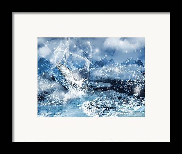 Unicorn Framed Print featuring the photograph Heavenly Interlude by Lourry Legarde