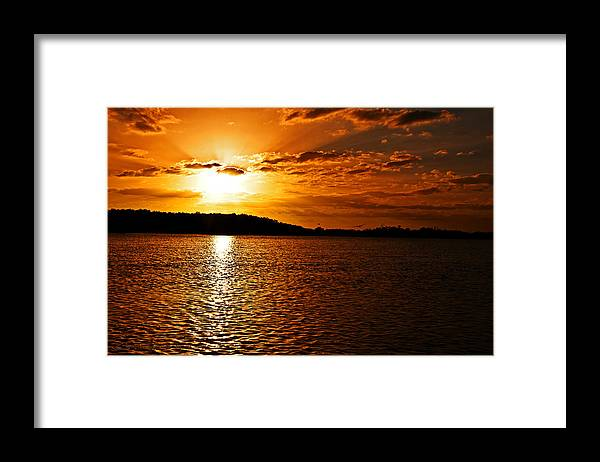 Sunset Framed Print featuring the photograph Heaven's Gate by Christine Stonebridge