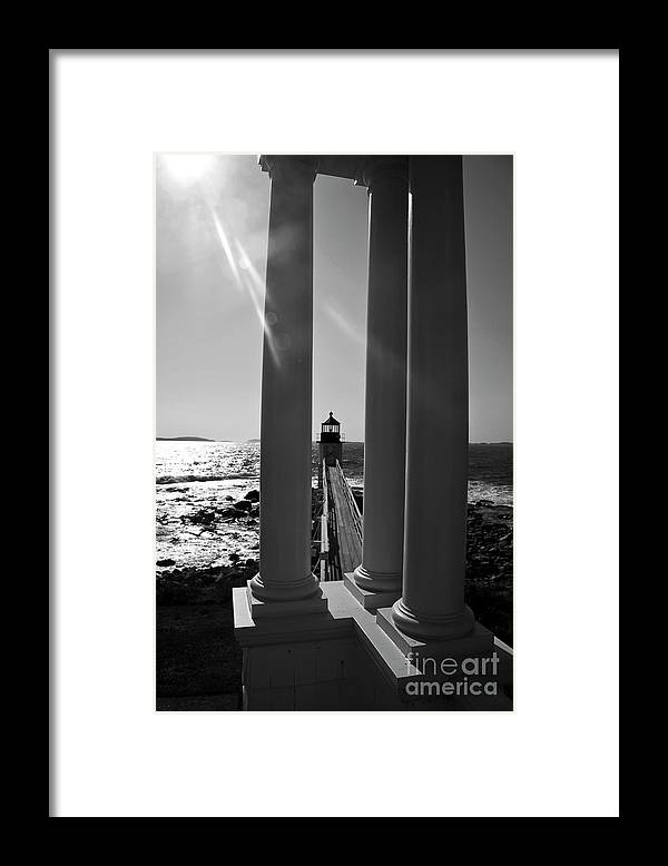 Marshall Point Framed Print featuring the photograph Heaven's Light by Brenda Giasson