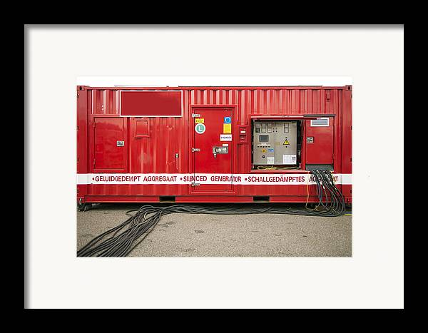 Empty Framed Print featuring the photograph Heavy Duty High Power Industrial by Corepics