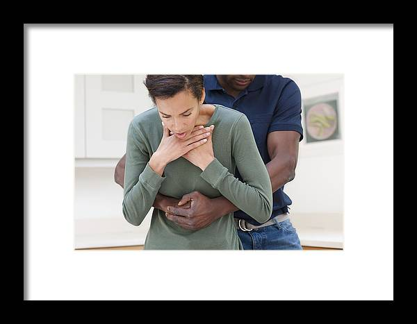 Healthcare Framed Print featuring the photograph Heimlich Manoeuvre by