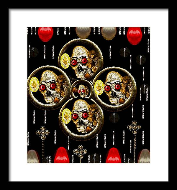 Landscape Framed Print featuring the mixed media Hell Flowers by Pepita Selles