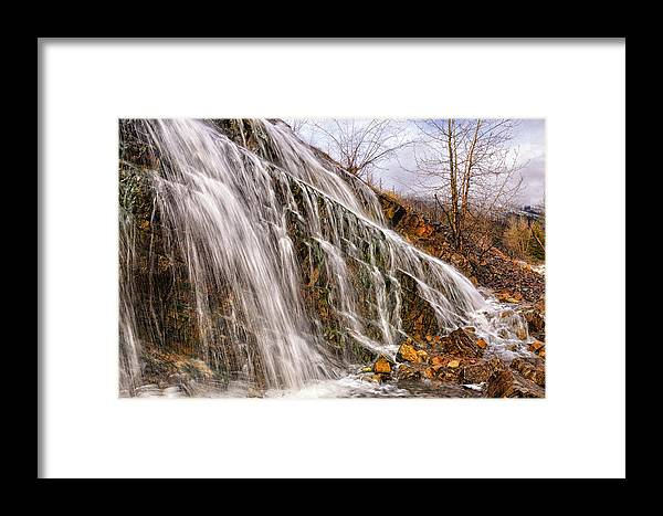 Water Fall Framed Print featuring the photograph Hell Roaring Falls by Jonathan Abrams