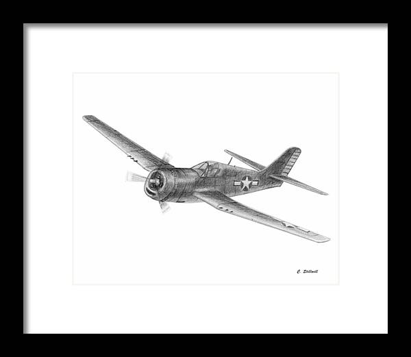 Framed Print featuring the drawing Hellcat by Craig Stillwell