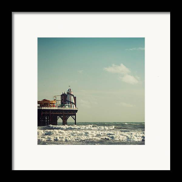 Helter-skelter Framed Print featuring the photograph Helter-skelter On Brighton Pier by Paul Grand