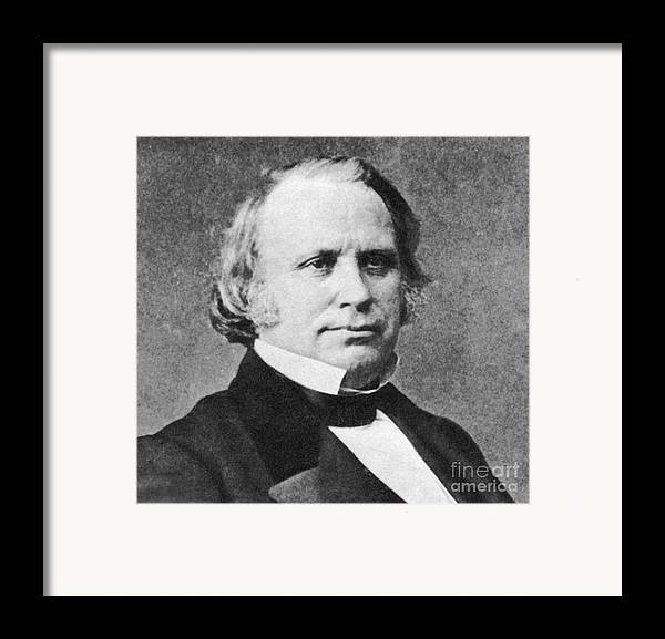 Henry Wilson Framed Print featuring the photograph Henry Wilson by Photo Researchers