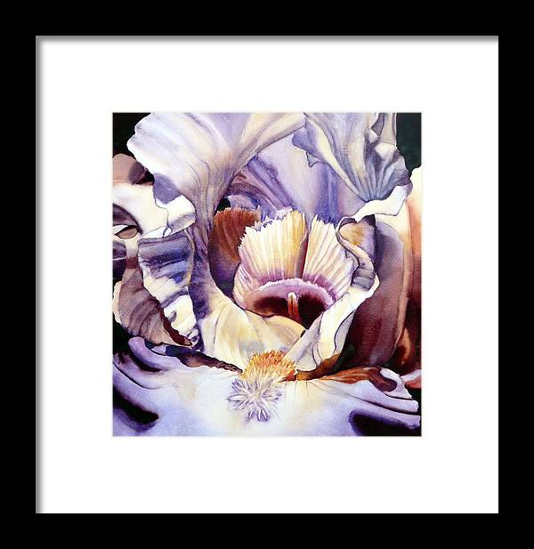 Watercolor Framed Print featuring the painting Her Majesty Awaits by June Rollins