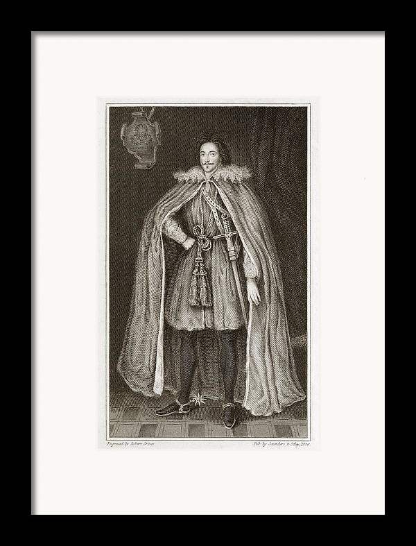 Edward Framed Print featuring the photograph Herbert Of Cherbury, English Philosopher by Middle Temple Library