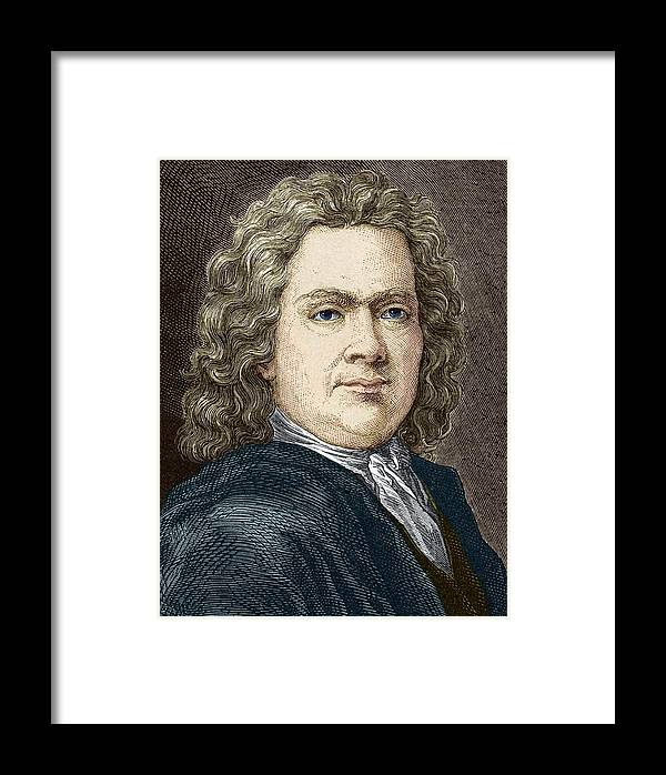 Hermann Boerhaave Framed Print featuring the photograph Hermann Boerhaave, Dutch Physician by Sheila Terry