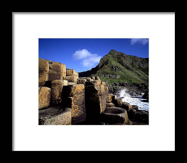 Photography Framed Print featuring the photograph Hexagonal Columns At The Giants by Chris Hill