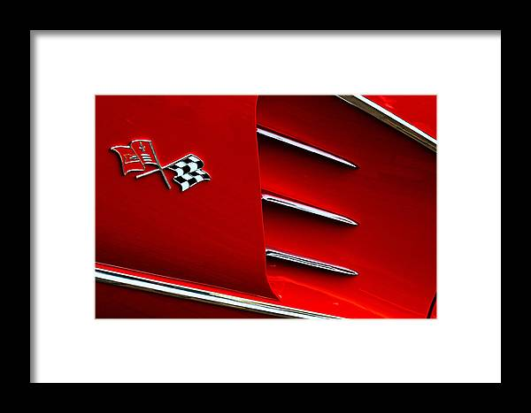 Corvette Framed Print featuring the photograph Hey Little Red Corvette by Robert Festerling