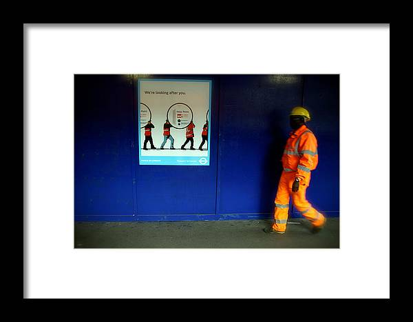 Jezcself Framed Print featuring the photograph Hey That's Me by Jez C Self