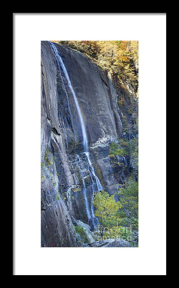 Hickory Nut Falls Framed Print featuring the photograph Hickory Nut Falls Chimney Rock State Park by Dustin K Ryan
