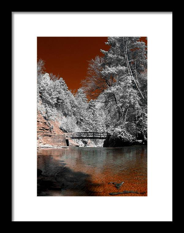 Water Framed Print featuring the photograph Hidden Bridge by Stephen Pacello