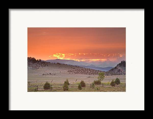 High Park Wildfire Framed Print featuring the photograph High Park Wildfire At Sunset by James BO Insogna