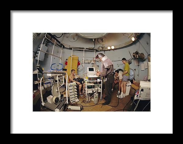 Equipment Framed Print featuring the photograph High-pressure Training Research by Alexis Rosenfeld