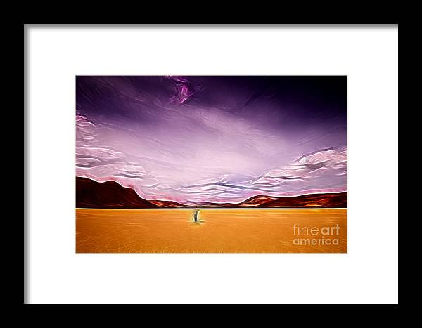 California Framed Print featuring the photograph Hiking Racetrack Playa by Katja Zuske