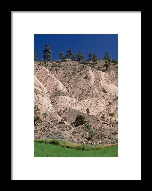 Erosion Framed Print featuring the photograph Hill Soil Erosion Caused By Over-grazing by Kaj R. Svensson