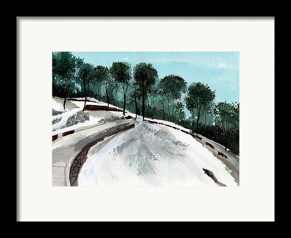 Tree Framed Print featuring the painting Himalaya 2 by Anil Nene