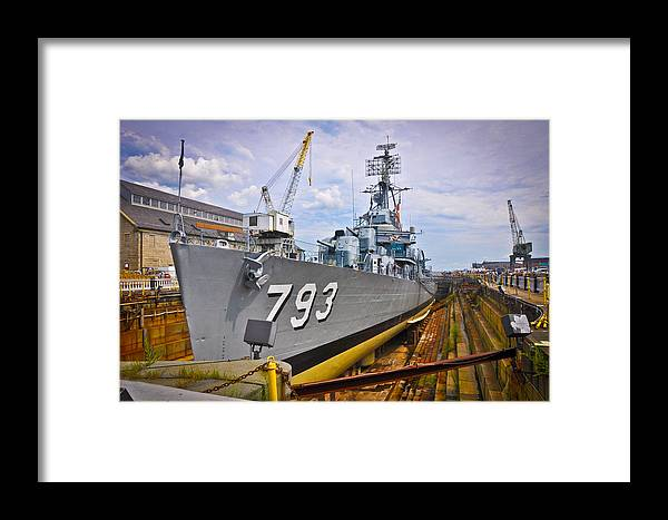 Boston Framed Print featuring the photograph Historic Boston Ship by Erica McLellan