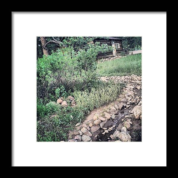 Framed Print featuring the photograph Historic Cabin On Their Land, And Creek by Susannah Campora
