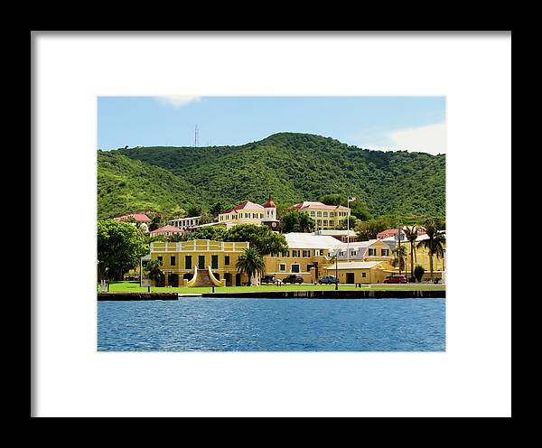 Christiansted Framed Print featuring the photograph Historic Christiansted by Robin Becker