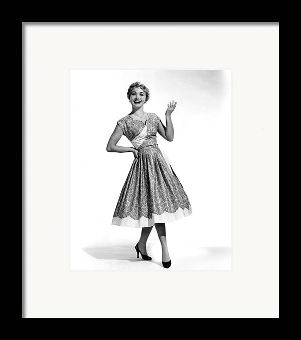 1950s Fashion Framed Print featuring the photograph Hit The Deck, Jane Powell, 1954 by Everett